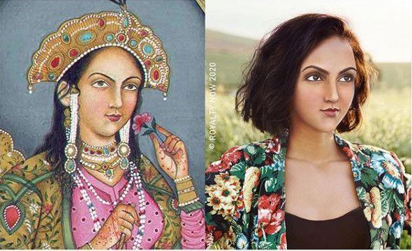 Arjumand Bânu Begam, imaginée au XXIe siècle. (© Royalty Now 2020)