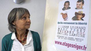 Françoise Larribe, ancienne otage et épouse de Daniel Larribe, l'un des otages français du Sahel, le 13 mai 2013 à Marseille (Bouches-du-Rhône). (BORIS HORVAT / AFP)