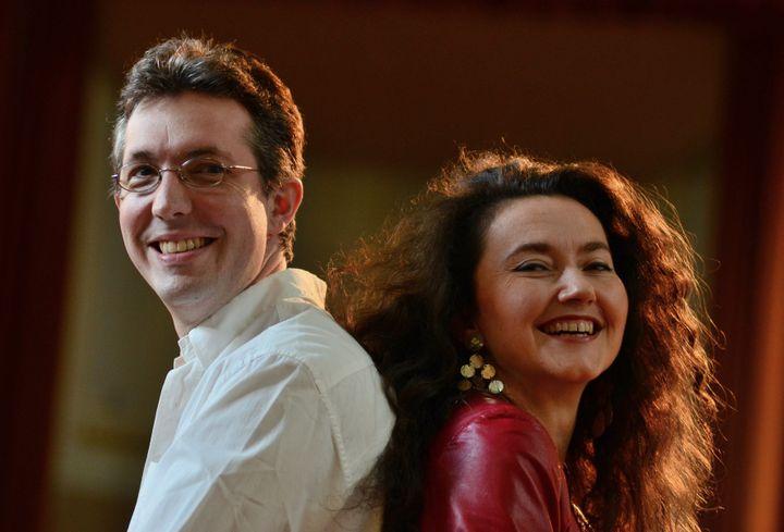 Pascal Jourdan avec Stéphanie d'Oustrac.  (Bertrand Pichène)