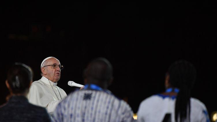 Le pape François, le 25 août 2018, en Irlande. (BEN STANSALL / AFP)