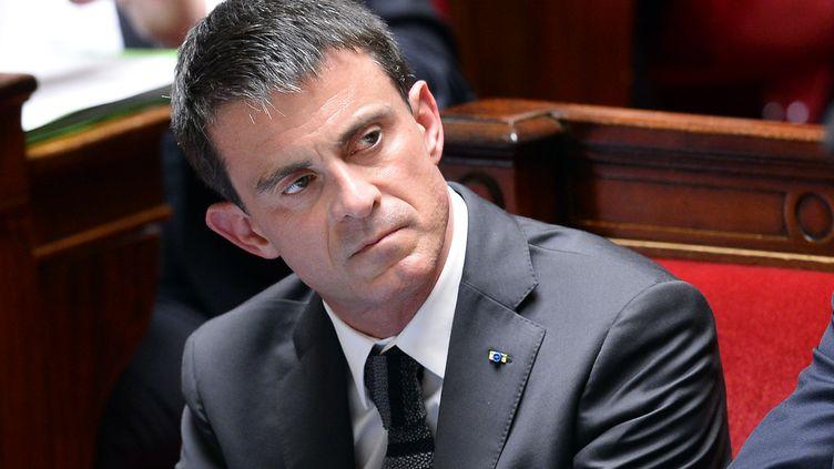 Le Premier ministre, Manuel Valls, le 10 juin 2015 à l'Assemblée nationale. (BERTRAND GUAY / AFP)
