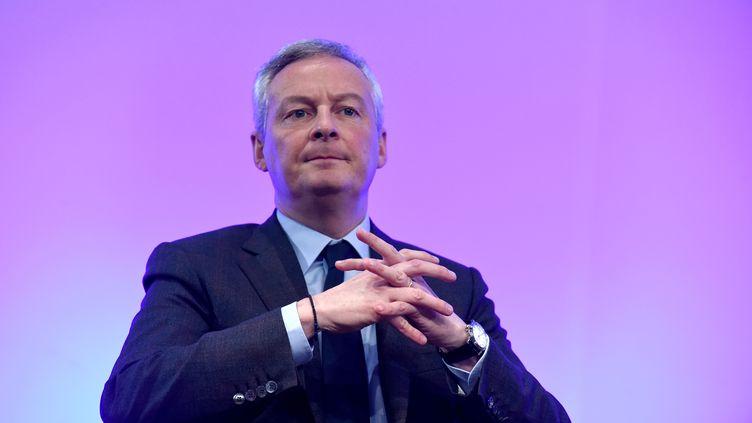 Le ministre de l'Economie, Bruno Le Maire, le 2 décembre 2019, à Paris. (ERIC PIERMONT / AFP)