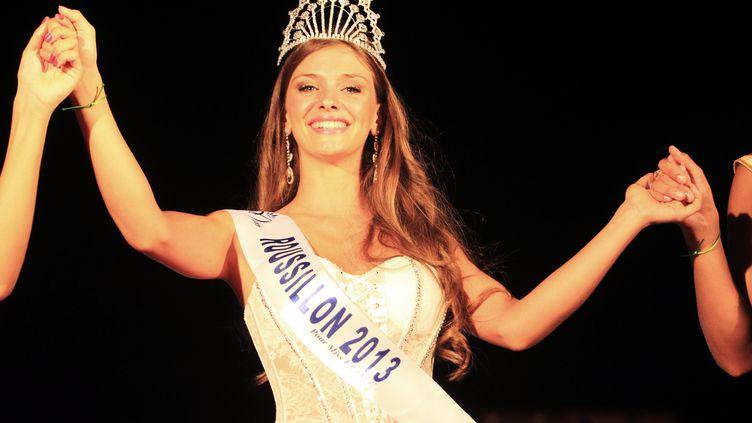 Norma Julia, élue Miss Roussillon, dimanche 11 août 2013, au Barcarès (Pyrénées-Orientales). (RAYMOND ROIG / AFP)