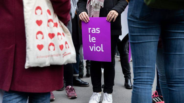 Manifestation contre les violences sexistes et sexuelles faites aux femmes, à Paris, le 24 novembre 2018. (MAXPPP)