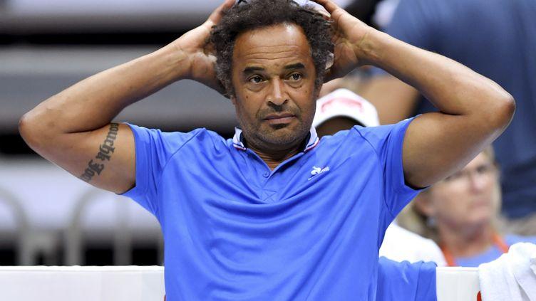 Yannick Noah à la fois capitaine de Coupe Davis et de Fed Cup (ANDREJ ISAKOVIC / AFP)