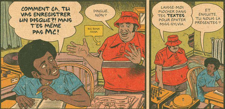 "Big Bank Hank de Surgahill Gang dans ""Hip Hop Family Tree"" (Tome 1).  (Ed Piskor)"