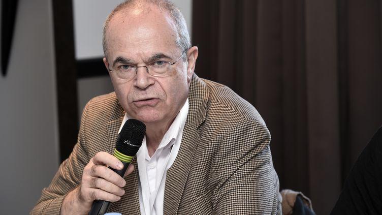 Le docteurBertrand de Rochambeau, lors d'une conférence de presse, à Paris, le 11 février 2018. (MIGUEL MEDINA / AFP)