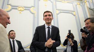 Julien Sanchez, le maire FN de Beaucaire (Gard), le 30 mars 2014. (BERTRAND LANGLOIS / AFP)