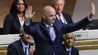 Le Hallenstadium de Zurich (Suisse), le 26 février 2016,Gianni Infantino nouveau président de la Fifa (OLIVIER MORIN / AFP)