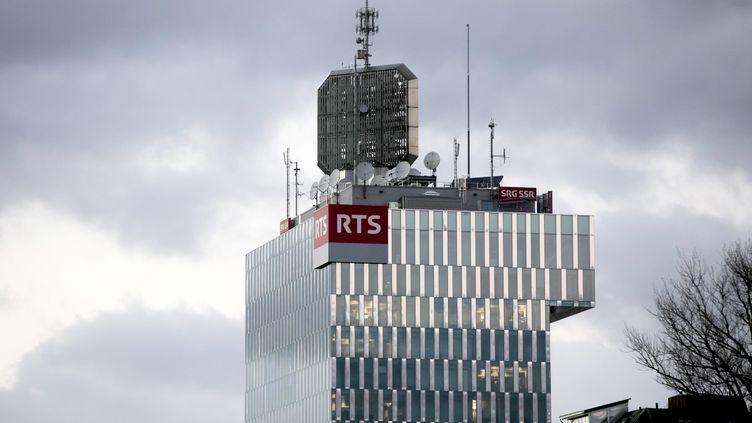 Le siège de la RTS, qui abrite aussi la Radio suisse romande (RSR). Image d'illustration. (VINCENT ISORE / MAXPPP)