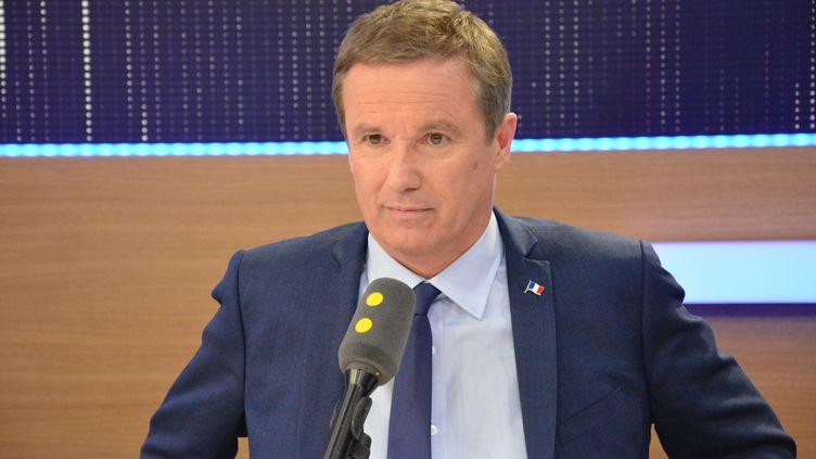 Nicolas Dupont-Aignan,président du parti Debout la France. (RADIO FRANCE / JEAN-CHRISTOPHE BOURDILLAT)