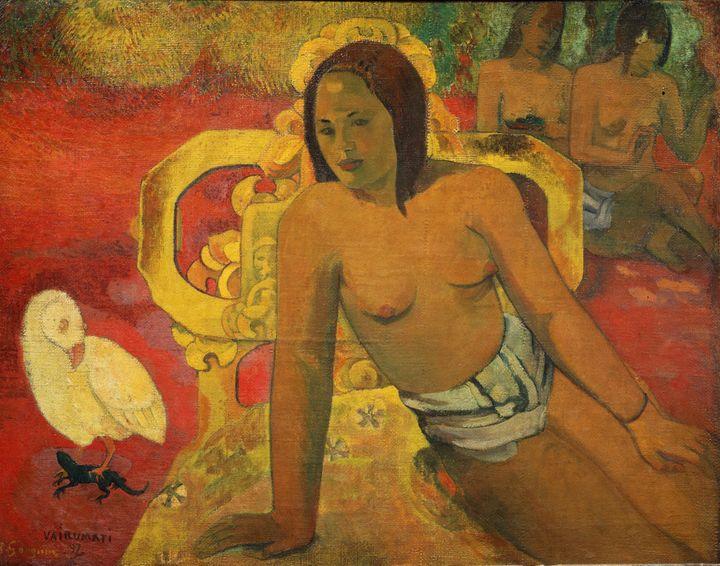 Vairumati, huile sur toile de Paul Gauguin (1897)  (Leemage)