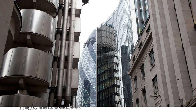 L'emploi dans la City de Londres (Royaume-Uni) va se retrouver au plus bas depuis seize ans en 2012. (OBERHAEUSER / CARO FOTOS / SIPA)