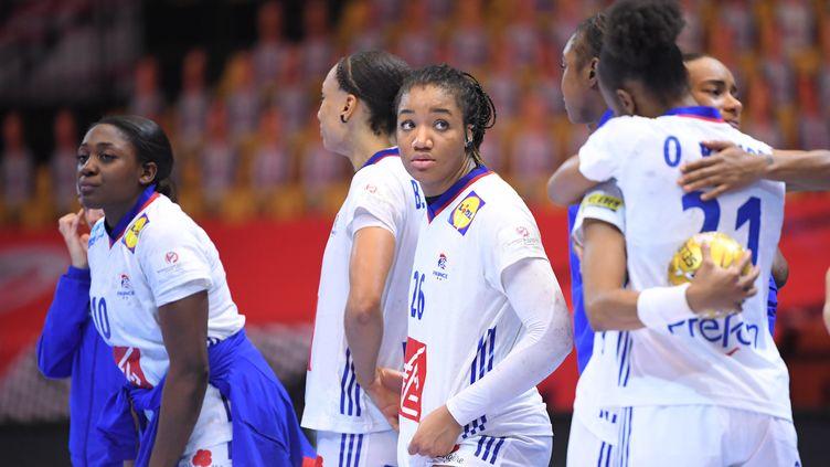 Les Bleues frustrées après la finale (JONATHAN NACKSTRAND / AFP)