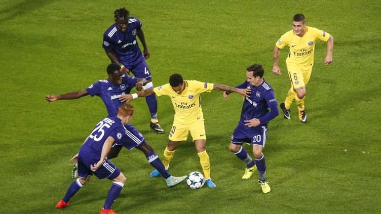 Neymar retrouvera ses coéquipiers face à Anderlecht (GEOFFROY VAN DER HASSELT / GEOFFROY VAN DER HASSELT)