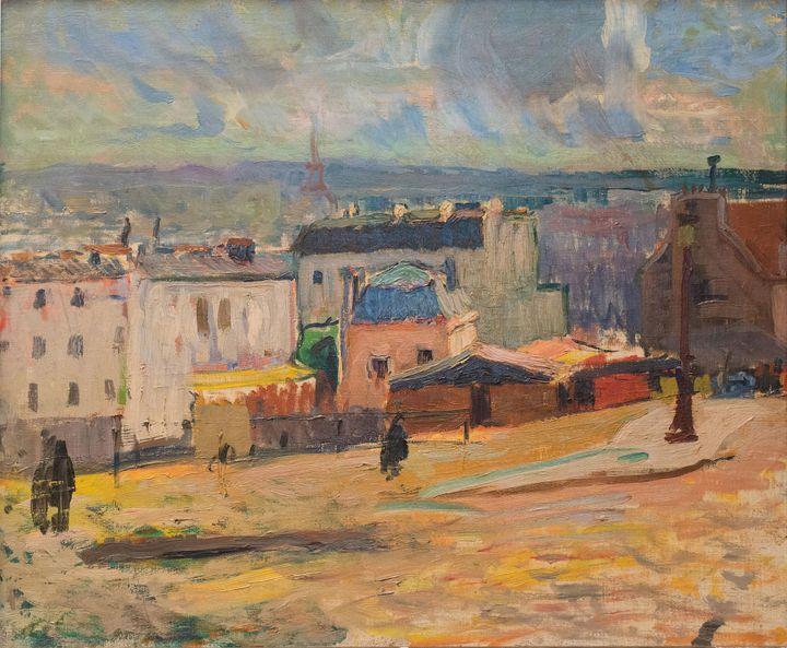 """Raoul Dufy, """"Vue de Paris depuis Montmartre"""", 1902, Collection particulière (© Adagp, Paris 2021)"""