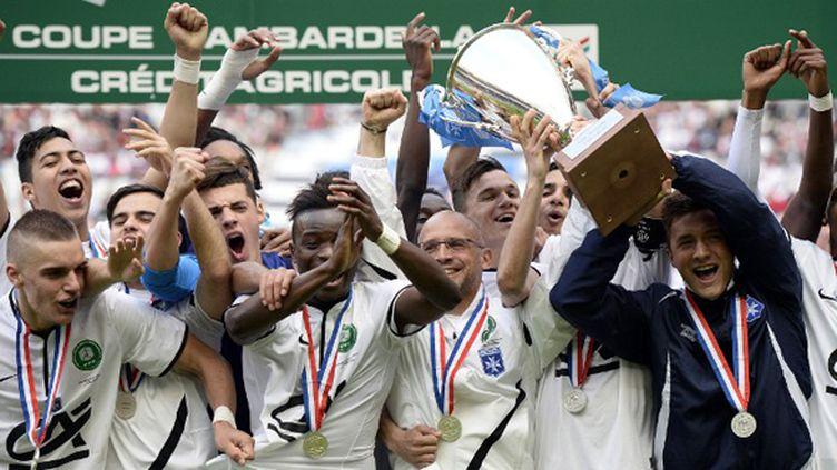 Les Auxerrois ont soulevé leur septième Coupe de la Gamberdella, la première depuis 2000. (FRANCK FIFE / AFP)