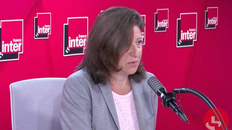 Agnès Buzyn,candidate LREM à la mairie de Paris, invitée sur France Inter. (CAPTURE D'ÉCRAN / FRANCEINTER.FR)