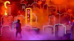 The Weeknd (Abel Tesfaye) lors de sa performance à la mi-temps du Super Bowl, le 7 février 2021 à Tampa (Floride) (KEVIN C. COX / GETTY IMAGES NORTH AMERICA)