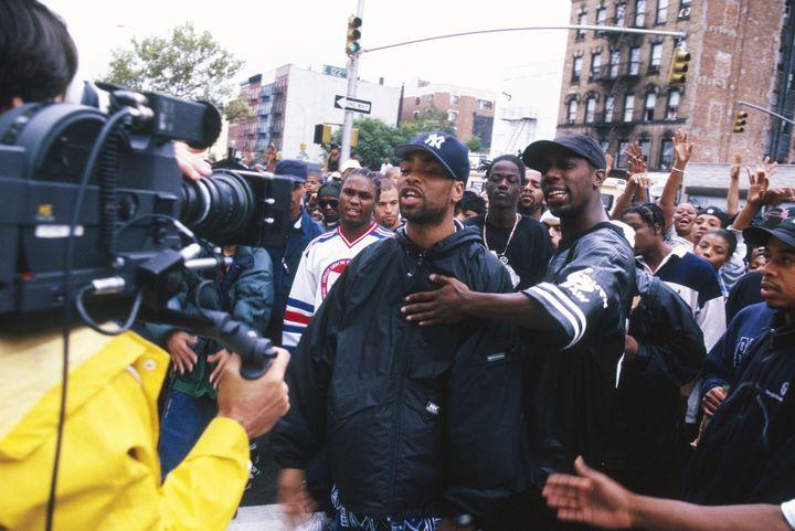 Method Man et Inspectah Deck du Wu-Tang Clan sur le tournage d'un clip.  (Marc Villalonga)
