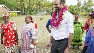Le Premier ministre Edouard Philippe, à Tiga, en Nouvelle-Calédonie, le 3 décembre 2017. (FRED PAYET / AFP)