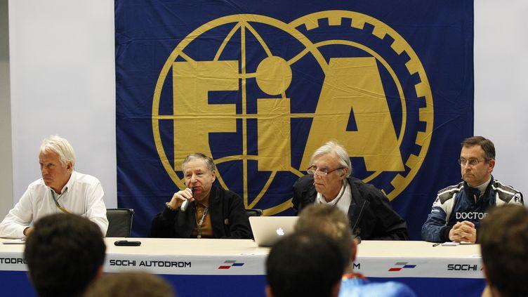 La conférence de presse des dirigeants de la FIA (FLORENT GOODEN / DPPI MEDIA)