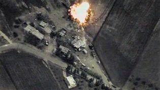 La Russie mène des frappes aériennes sur des positions de l'Etat islamique en Syrie, le 1er octobre 2015. (RIA NOVOSTI / AFP)