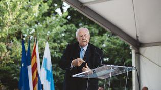 Le maire de Marseille, Jean Claude Gaudin, le 28 juin 2018, à Marseille (Bouches-du-Rhône). (THEO GIACOMETTI / HANS LUCAS / AFP)