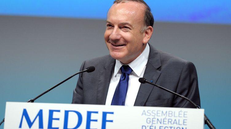Pierre Gattaz, le nouveauprésident du Medef, le 3 juillet 2013 à Paris. (ERIC PIERMONT / AFP)