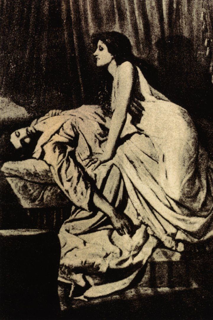 """Le Vampire"" (1897) par Philip Burne-Jones, fils du peintre Edward Burne-Jones"
