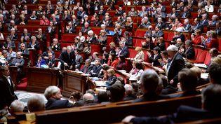 Dans l'hémicycle de l'Assemblée nationale, lors des questions au gouvernement, le 23 avril 2013 à Paris. (MARTIN BUREAU / AFP)