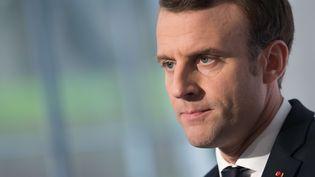 Le président Emmanuel Macron lors d'une conférence de presse à Paris, le 13 décembre 2017. (JACQUES WITT / REA)