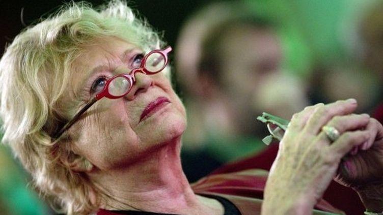 Eva Joly participe au congrès européen des écologistes, à Paris, le 12 novembre 2011. (AFP - Joël Saget)
