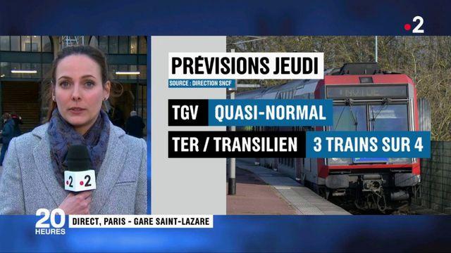 """Grève à la SNCF : une reprise """"progressive"""" du trafic jeudi"""