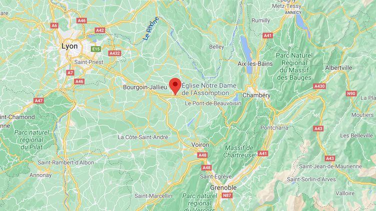 Le fait-divers s'est déroulé à la Tour-du-Pin, en Isère, dimanche 28 février 2021. (GOOGLE MAPS)