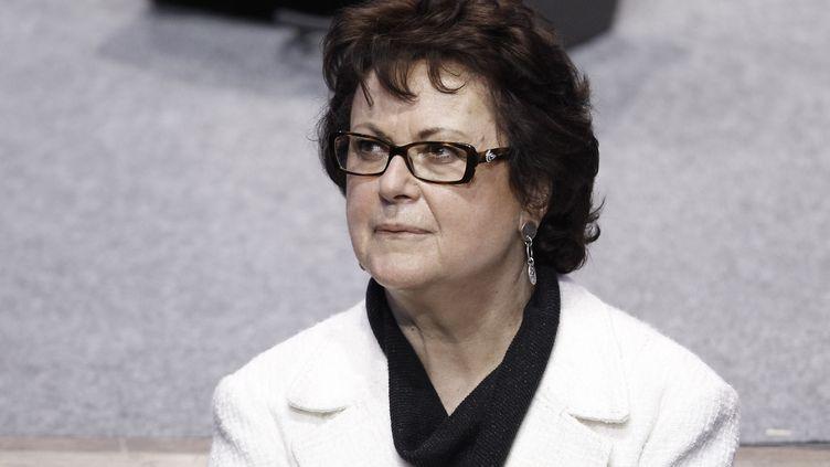 Christine Boutin, présidente du Parti chrétien-démocrate, à Paris, le 22 avril 2012. (KENZO TRIBOUILLARD / AFP)