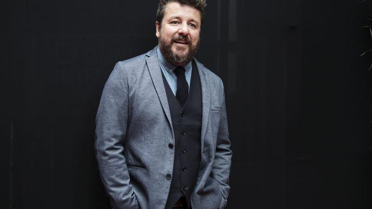 L'animateur Bruno Guillon lors de la conférence de rentrée de RTL, le 13 septembre 2017, à Paris. (MAXPPP)