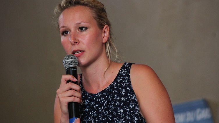 L'ancienne députée du Front national, Marion Maréchal-Le Pen, le 14 juin 2017au Cailar (Gard). (PASCAL LEHOCQ / AFP)