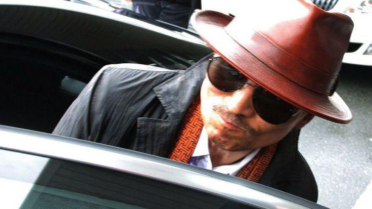 Détenu à Tokyo depuis 2005, l'un des parrains du clan Yamaguchi Gumi,Kenichi Shinoda,arrive à Kobe, le 9 Avril 2011. (AFP PHOTO / JIJI PRESS JIJI PRESS / AFP)