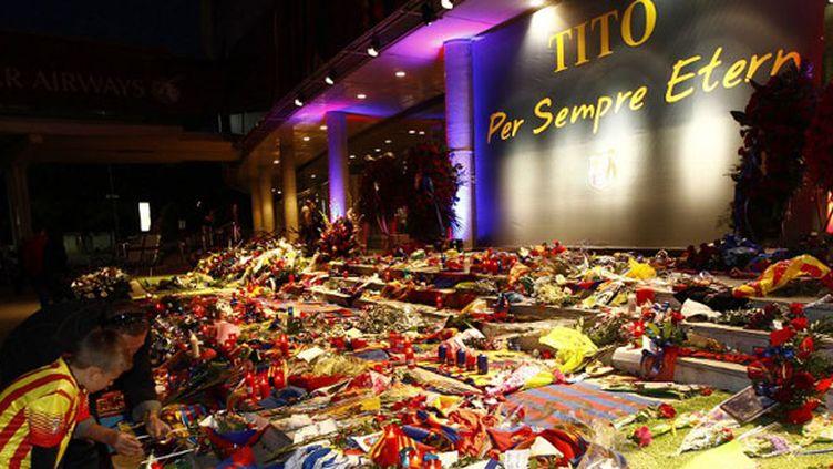 Le Camp Nou au lendemain de la disparition de Tito Vilanova