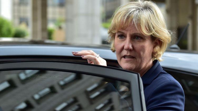 Nadine Morano, le 2 mai 2020, au siège des Républicains, à Paris. (CHRISTOPHE ARCHAMBAULT / AFP)
