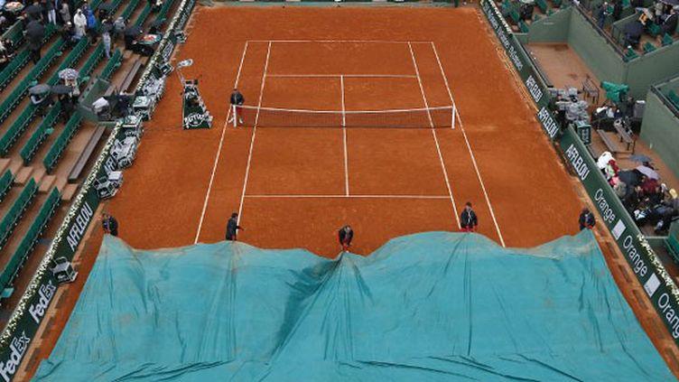 La pluie a parfois interrompu les matches à Roland-Garros