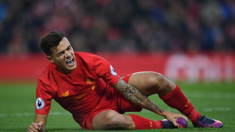 Philippe Coutinho sévèrement touché contre Sunderland (PAUL ELLIS / AFP)