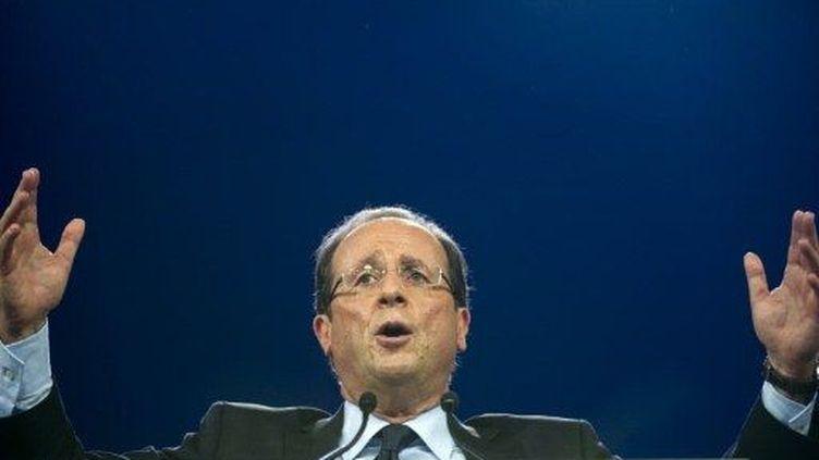 François Hollande au Bourget (22 janvier2012) (AFP)