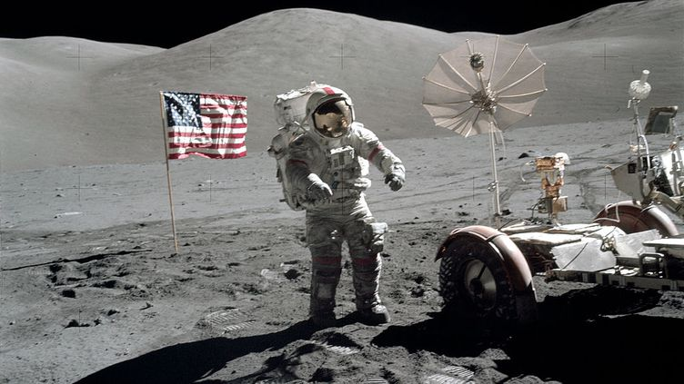 Eugene A.Cernan en décembre 1972, lors de la dernière mission Apollo sur la Lune. (NASA)