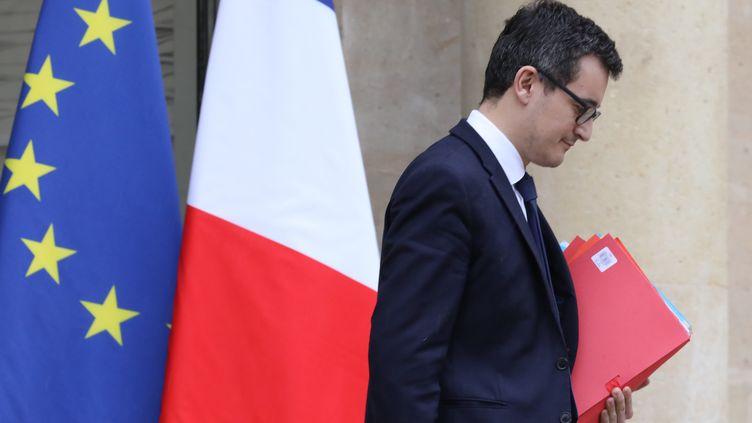 Le ministre de l'Action et des Comptes publics, Gérald Darmanin, à l'Elysée le 31 janvier 2018. (LUDOVIC MARIN / AFP)