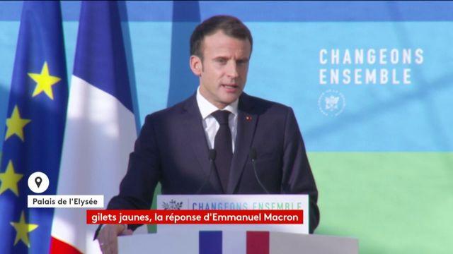 Le discours d'Emmanuel Macron sur la transition écologique