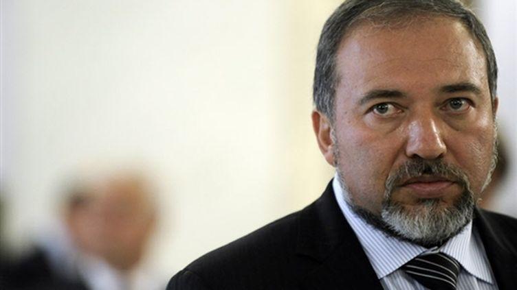 Le ministre israélien des Affaires étrangères Avigdor Lieberman se trouvait à Bruxelles lundi. (AFP)