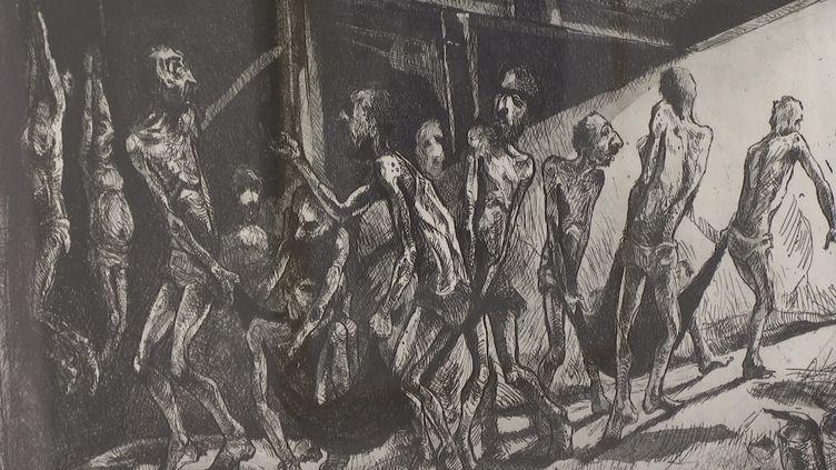 Deux artistes exilés, iranien et syrien, exposent leurs oeuvres à Nice jusqu'au 3 avril. (FRANCE 3 / CAPTURE D'ECRAN)