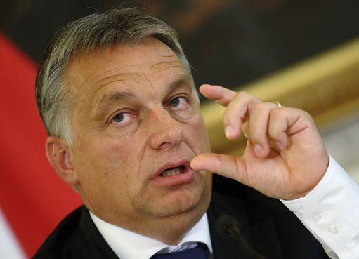 Le Premier ministre hongrois, Viktor Orban, à Vienne le 25 octobre 2015 (REUTERS - Heinz-Peter Bader)